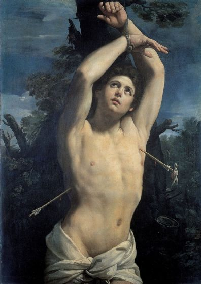 Reni, Guido: Saint Sebastian. Fine Art Print/Poster. Sizes: A4/A3/A2/A1 (002112)